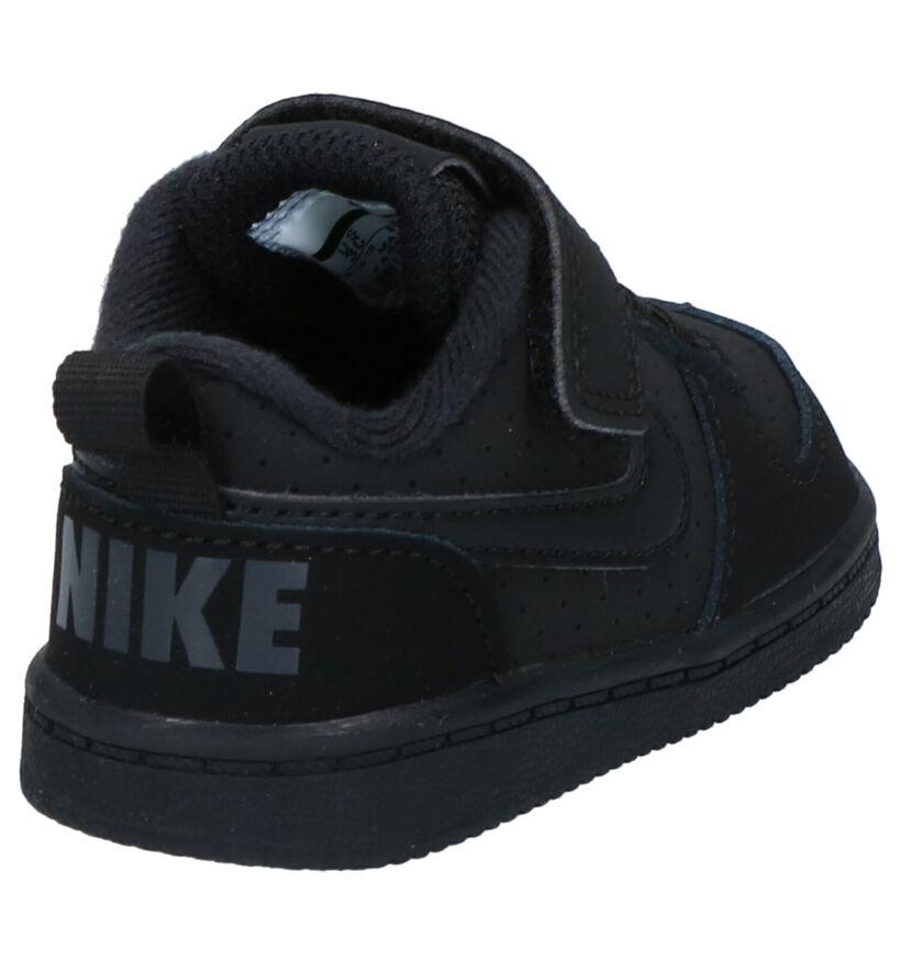 Nike Court Borough Baskets en Noir en nubuck (249920)