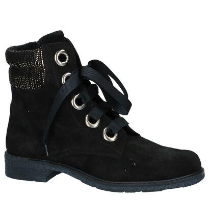 River Woods India Zwarte Boots in daim (231787)