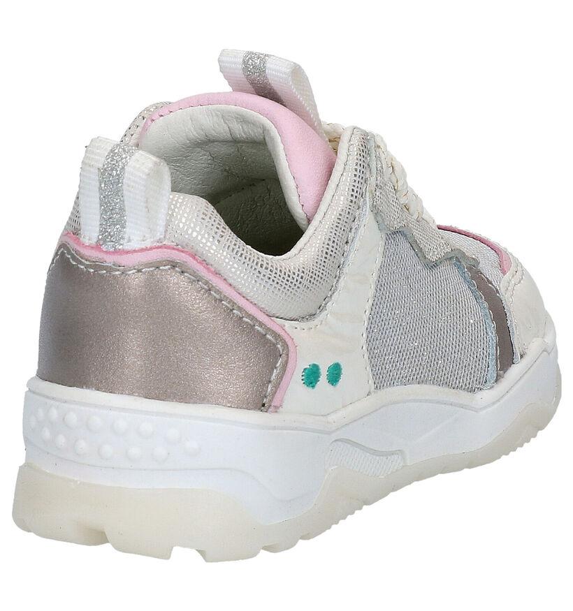 Bunnies Charlie Chunky Chaussures à lacets en Blanc en cuir (275286)