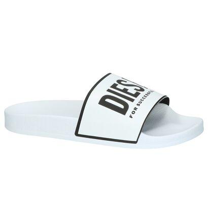 Witte Slippers Diesel , Wit, pdp