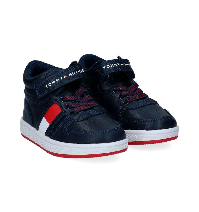 Tommy Hilfiger Blauwe Sneakers in kunstleer (295393)