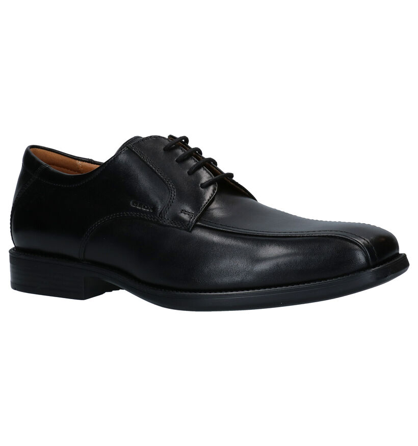 Geox Federico Chaussures à lacets en Noir en cuir (279759)