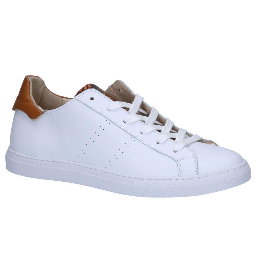 March23 Baskets basses en Blanc en cuir (269421)