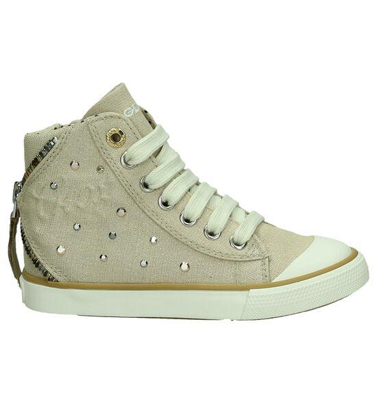 Geox Beige Sneakers Hoog