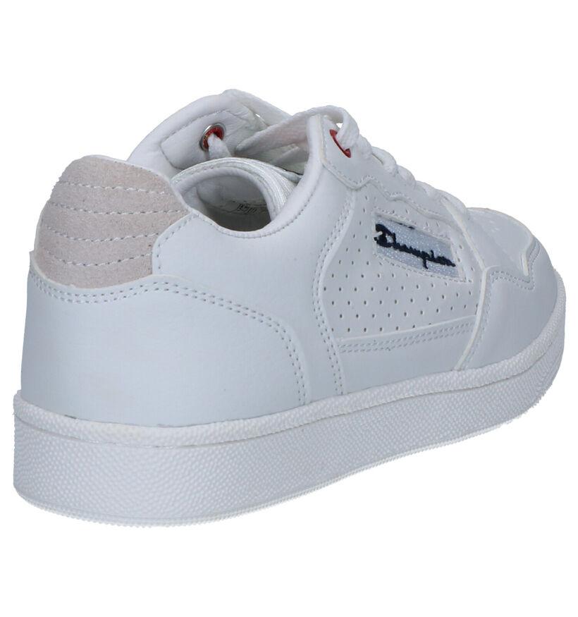 Champion Cleveland Low Witte Sneakers in kunstleer (253755)
