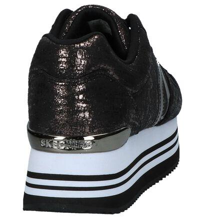 Skechers Highrise Shine Bronzen Sneakers met Dikke Zolen, Brons, pdp