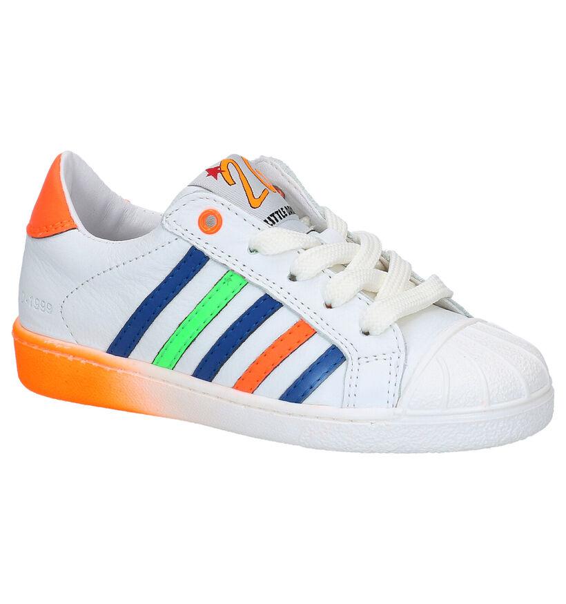 Little David Max Witte Sneakers in leer (289365)