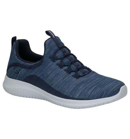 Skechers Ultra Flex Baskets en Bleu