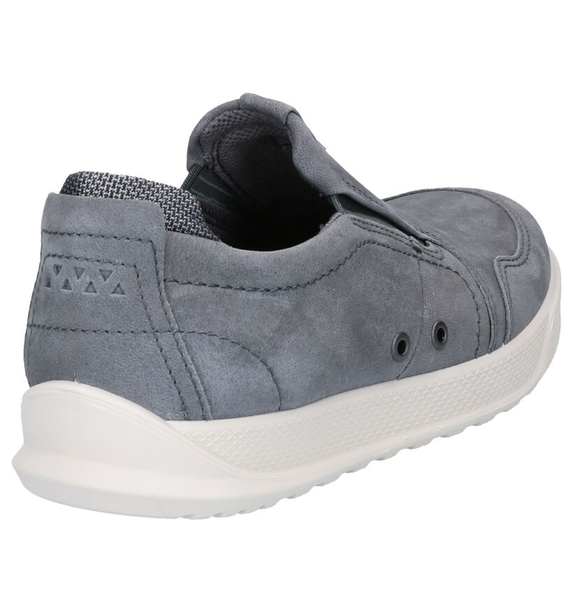 ECCO Chaussures slip-on en Gris foncé en nubuck (275347)
