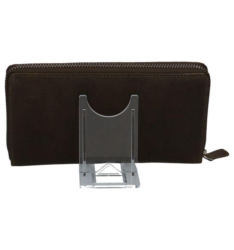Via Limone Porte-monnaies à fermeture à glissière en Noir en cuir (221738)