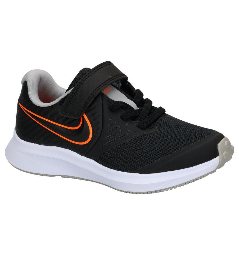 Nike Star Runner 2.0 Baskets en Noir en textile (274958)