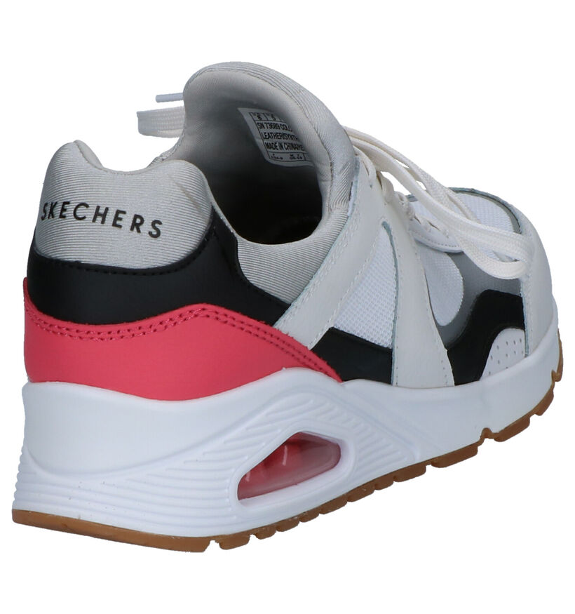 Skechers Uno Super Fresh Baskets en Blanc en simili cuir (262823)