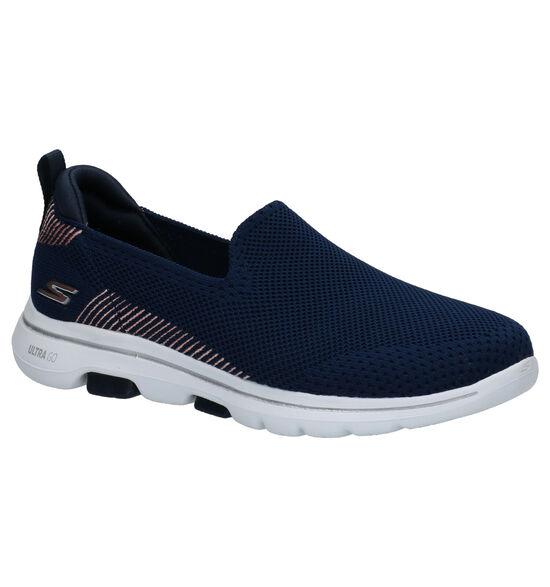 Skechers Blauwe Slip-on Sneakers