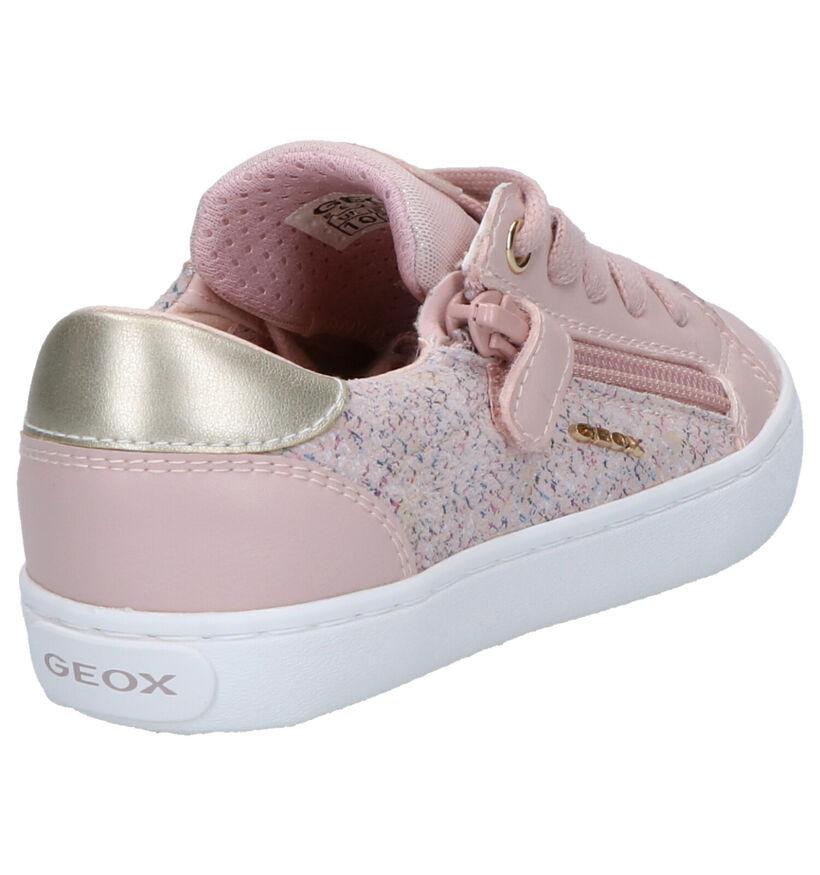 Geox Chaussures basses en Rose clair en simili cuir (265756)