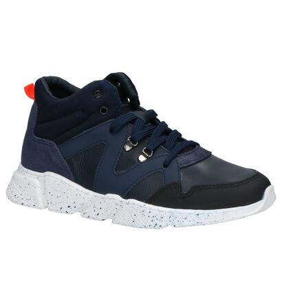 Little David Moussa Blauwe Sneakers in kunststof (261719)