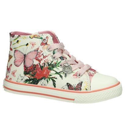 Kipling Butterfly Roze Sneakers Rits/Veter, Roze, pdp