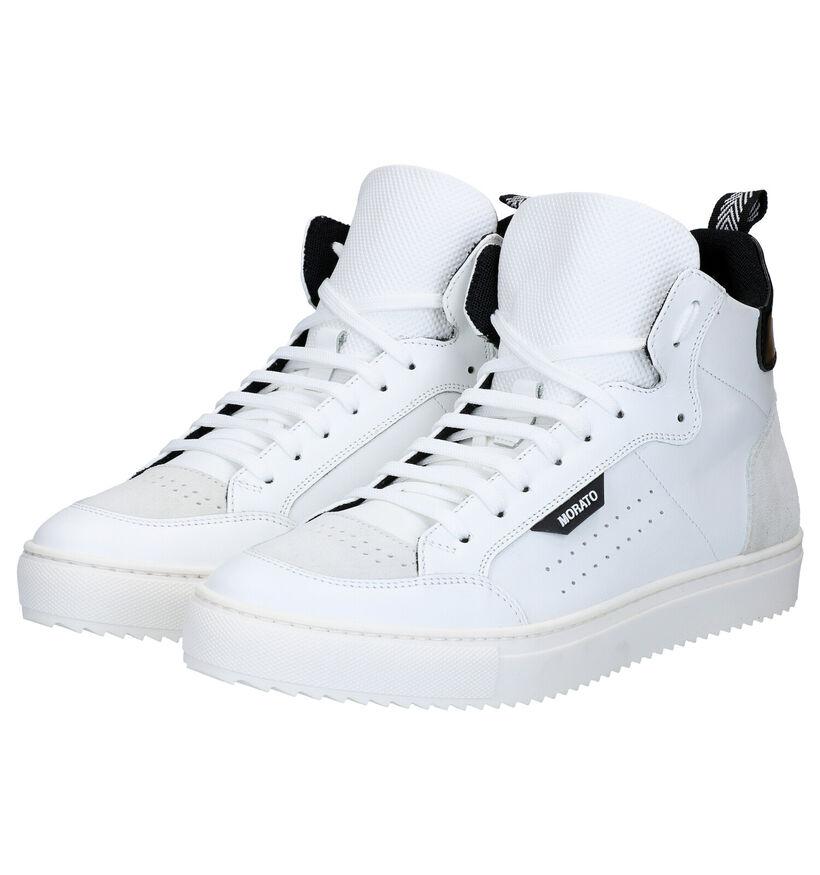 Antony Morato Baskets hautes en Blanc en cuir (282654)