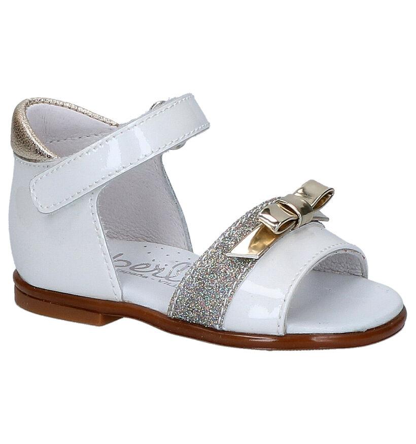 Beberlis Witte Sandalen in leer (271464)