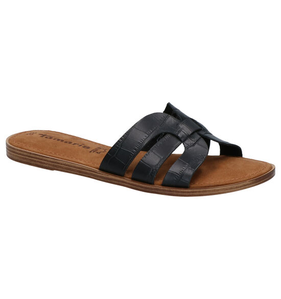 Tamaris Nu-pieds plates en Noir