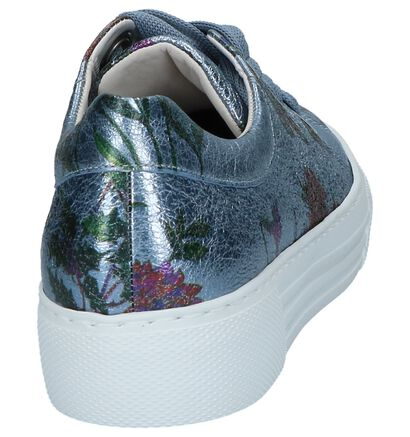 Gabor OptiFit Chaussures à lacets en Bleu en cuir (216126)