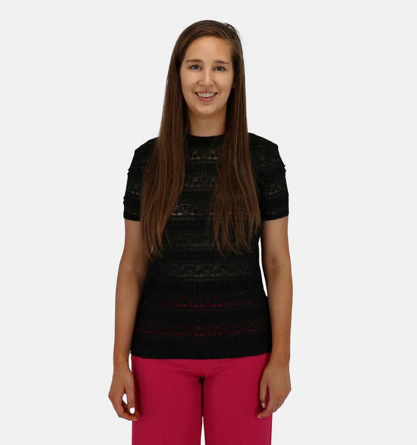 Lofty Manner Zwarte T-shirt Korte Mouwen (284367)