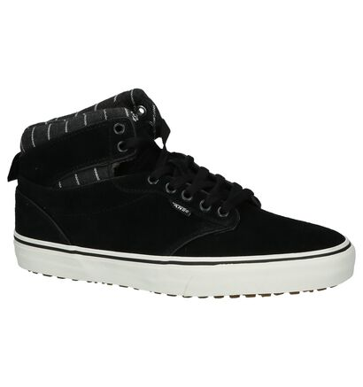Vans Atwood High Zwarte Skateschoenen in daim (200545)