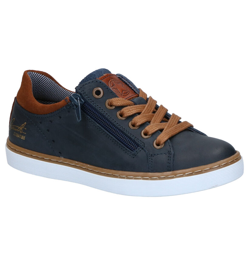 Bullboxer Chaussures basses en Bleu foncé en cuir (262654)