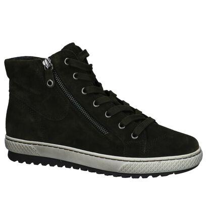 Donker Blauwe Hoge Sneakers Gabor in daim (222768)