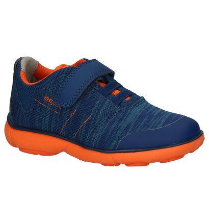 Donkerblauwe Lage Sportieve Sneakers Geox in stof (210535)