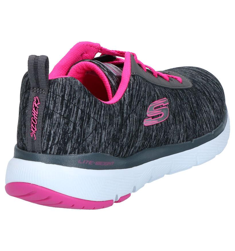 Zwarte Lage Sneakers Skechers Flex Appeal in stof (266930)