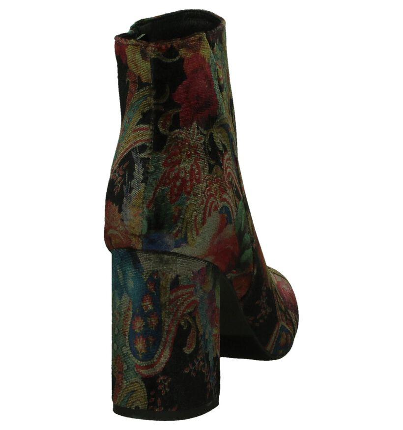 La Strada Meerkleurige Enkellaarzen in velours (201181)