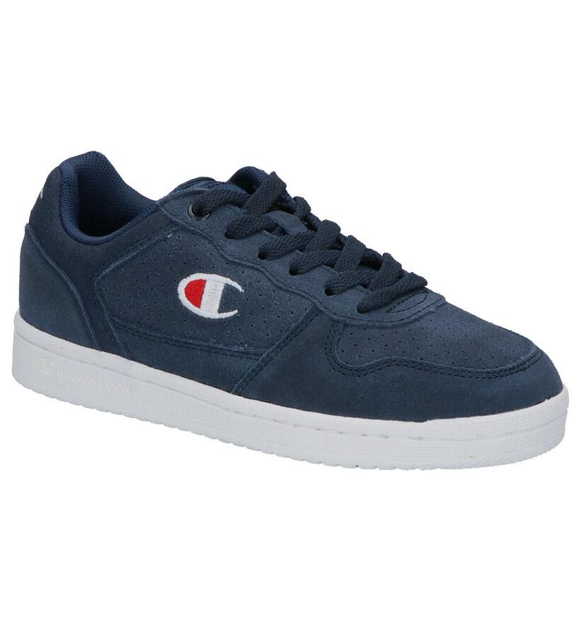 Champion Chicago Blauwe Sneakers in daim (253750)