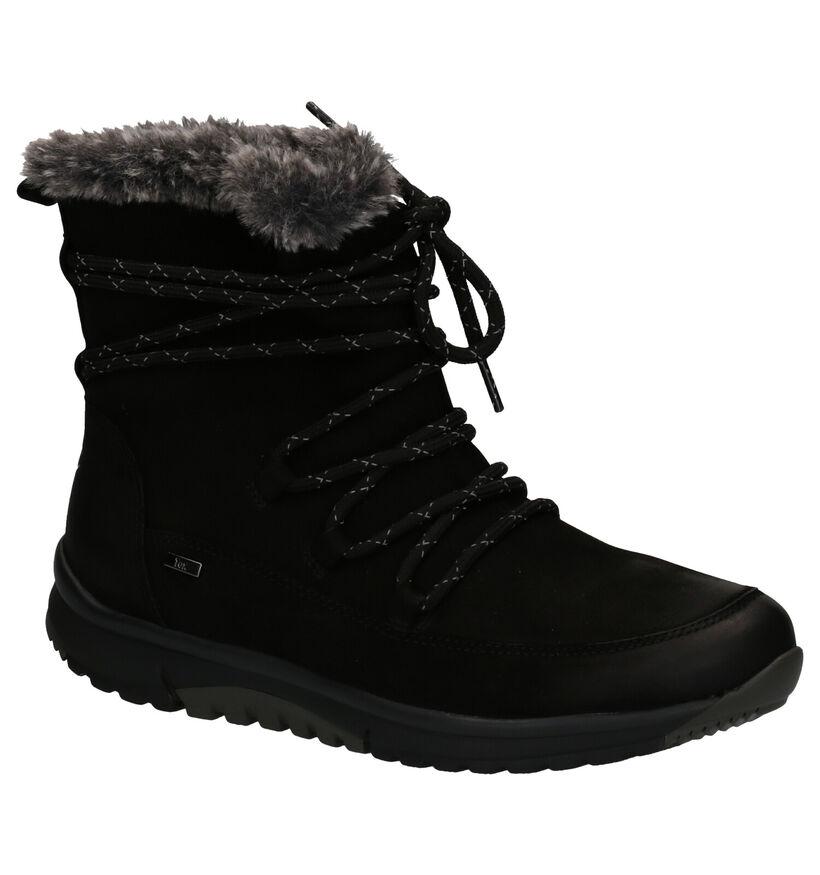 Gabor Rollingsoft Zwarte Boots in daim (260193)