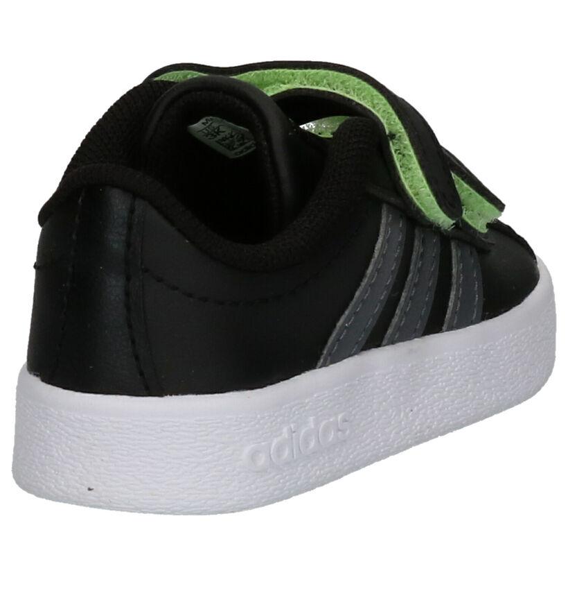 adidas VL Court 2.0 Baskets en Noir en simili cuir (252554)