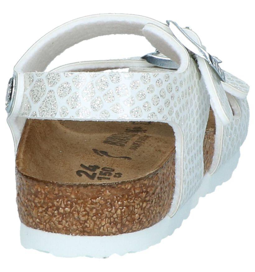 Birkenstock Rio Sandales en Blanc en simili cuir (241907)