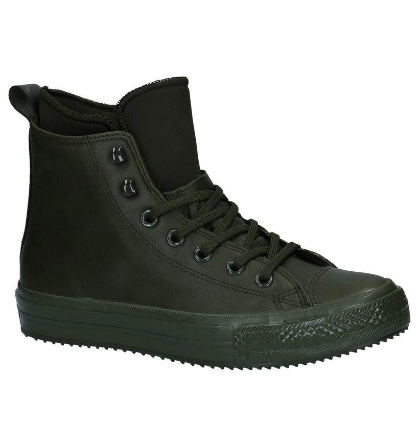 Converse All Star WP Boot Zwarte Slip-on Sneaker in leer (233387)