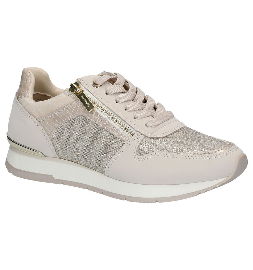 Tamaris Beige Sneakers in kunstleer (286291)