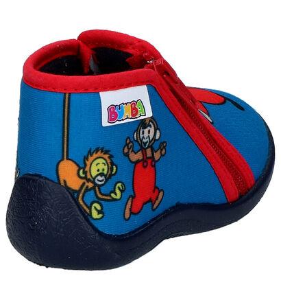 Blauwe Pantoffels Bumba in stof (263631)