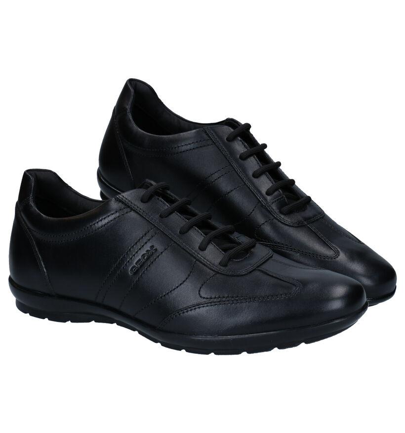 Geox Chaussures basses en Noir en cuir (278966)