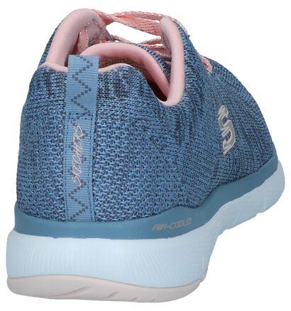 Zwarte Sneakers Skechers Flex Appeal, Blauw, pdp