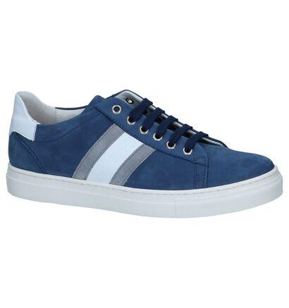 Blauwe Geklede Sneakers Hampton Bays in nubuck (243829)