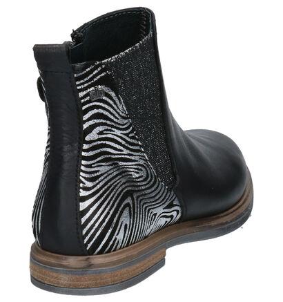 STONES and BONES Gilla Zwarte Boots in leer (255535)