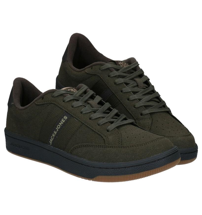 Jack & Jones Kaki Sneakers in kunstleer (278337)