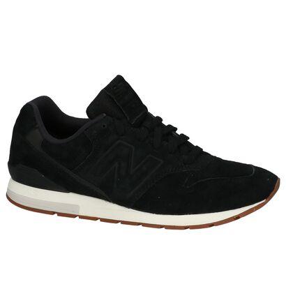 Zwarte New Balance Lage Sneakers in daim (199946)