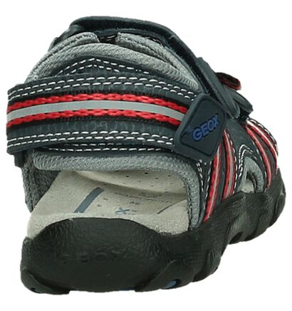Zwarte Geox Sportieve Sandalen, Blauw, pdp