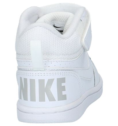 Nike Court Borough Baskets hautes en Blanc en cuir (205811)