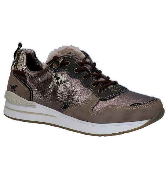 Mustang Chaussures à lacets en Bronze