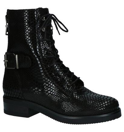 Poelman Chaussures à fermeture à glissière et lacets  (Noir), Noir, pdp