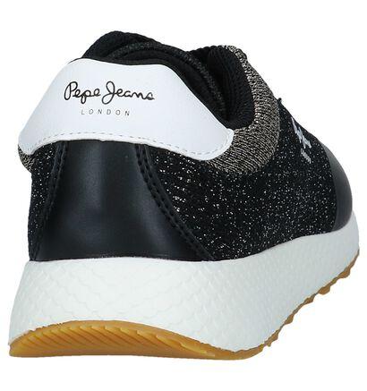 Zwarte Geklede Sneakers met Glitters Pepe Jeans Koko Sand in stof (225522)