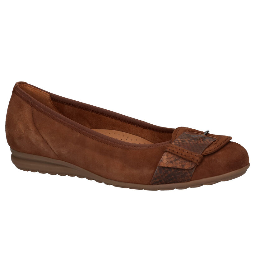 Gabor Easy Walking Ballerines en Cognac en nubuck (282354)